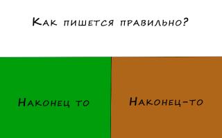 Как пишется слово наконец то: слитно, раздельно или через дефис?