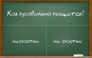 Как правильно писать слово «несчастье»?