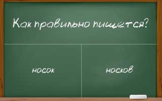 """Как писать во множественном числе – """"носок"""" или """"носков""""?"""