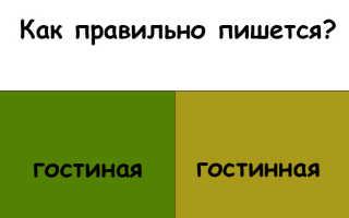 """""""Гостиная"""" или """"гостинная"""" как правильно писать?"""