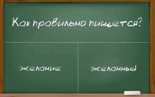 """Пишем правильно: """"желаю"""", """"желание"""" и """"желанный"""""""