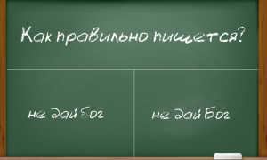 Как правильно пишется фразеологизм «не дай бог»?
