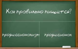 """""""Профессионализм"""": орфограммы в слове"""