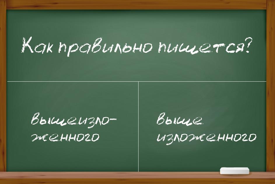 """Написание слова """"вышеизложенный"""": слитно или раздельно?"""